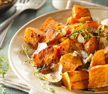 Oven-Roasted Sweet Potato Cubes