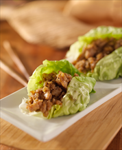 Paleo Asian Lettuce Wraps with Turkey