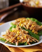 Paleo BBQ Chicken Taco Lettuce Wraps