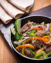Paleo Beef Fajitas with Cassava-Coconut Tortillas and Guacamole