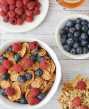 Paleo Coconut Cereal with Blueberries