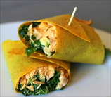 Paleo Curry Chicken Salad Wraps