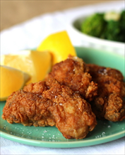 Paleo Fried Oysters, Roasted Sweet Potatoes and Broccoli