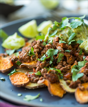 Paleo Nachos with Grass-Fed Beef