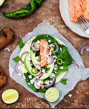 Paleo Salmon Avocado Wraps