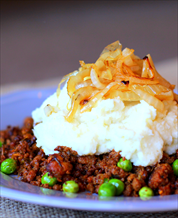 Deconstructed Shepherd's Pie and Sauteed Asparagus