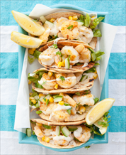 Paleo Shrimp Tacos with Mango, Cucumber and Cilantro