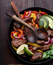 Paleo Steak Fajitas with Lettuce Wraps & Guacamole