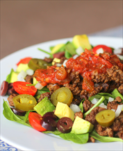 Paleo Taco Salad with Cilantro Vinaigrette