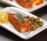 Pan-Roasted Wild Salmon with Olives