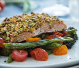 Pistachio Crusted Wild Salmon