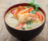 Poached Coconut Ginger Shrimp with Bok Choy