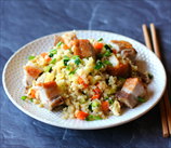 Pork Belly Fried Cauliflower Rice