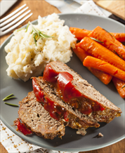Primal Meatloaf, Fauxtatoes and Butter-Roasted Carrots