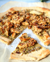 Primal Pesto Chicken Pizza