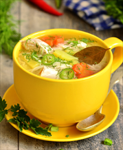 Quick Chicken Zoodle Soup (AIP)