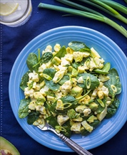 Quick Egg and Spinach Salad