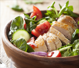 Quick Greek Salad with Chicken (AIP)