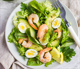 Quick Shrimp, Egg and Avocado Salad