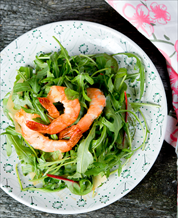 Quick Shrimp & Arugula Salad with Lemon Vinaigrette