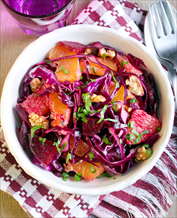 Red Cabbage, Grapefruit + Beet Salad with Chicken (AIP)