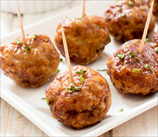 Roasted Beef and Bacon Meatballs with Cauliflower