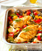 Roasted Coconut Lime Chicken and Vegetables