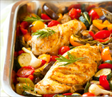Roasted Coconut Lime Chicken with Vegetables