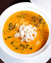 Roasted Pepper and Crab Soup