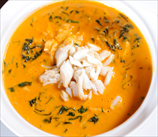 Roasted Red Pepper and Crab Soup