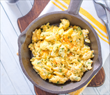 Creamy Scrambled Eggs with Basil