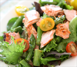 Seared Wild Salmon Salad with Asian Dressing