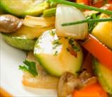 Shiitake, Zucchini & Bell Pepper Stir Fry
