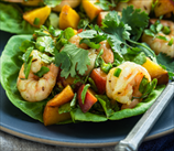 Shrimp Taco Lettuce Wraps with Peaches (AIP)