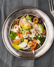 Shrimp and Avocado Salad with Primal Kitchen Green Goddess Dressing