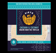 Siete Foods Cassava& Coconut Tortillas
