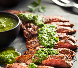 Simple Grass-Fed Skirt Steak with Chimichurri