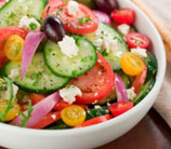 Quick Greek Salad with Primal Kitchen Greek Vinaigrette
