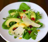 Simple Mixed Green Salad with Avocados