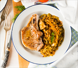 Simple Pork Chops with Sauerkraut