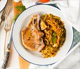 Simple Pork Chops with Sauerkraut