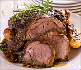 Slow Cooker Balsamic Glazed Lamb
