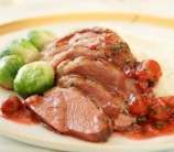 Slow Cooker Duck with Port, Mushroom and Tart Cherry Glaze