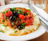 Slow Cooker Paleo Chicken Cacciatore over Fauxtatoes