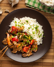 Slow Cooker Pepper Steak and Cauliflower Rice
