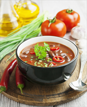 Slow Cooker Vegetarian Chili and Simple Salad