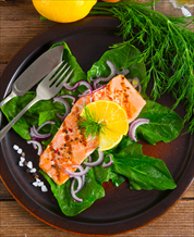 Smoked Salmon Spinach Salad