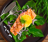Smoked Salmon Spinach Salad with Dill