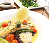 Snapper with Thyme, Tomatoes and Kalamata Olives