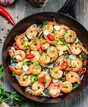 Southern-Style Creole Shrimp with Sautéed Kale